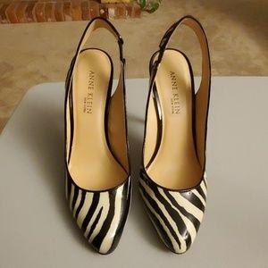 Anne Klein zebra heels